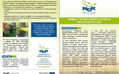 Informacja na temat głównych założeń LSR oraz PO Ryby 2014-2020